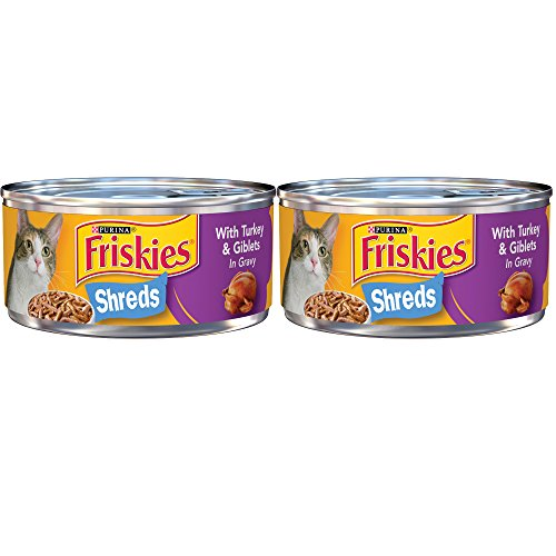 .Purina Friskies. Shreds Turkey & Cheese Dinner in Gravy Adult Wet Cat Food - (24) 5.5 oz. Cans