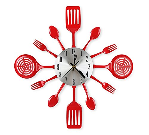 Kitchen Wall Clocks with Spoons and Forks,Great Home Decor