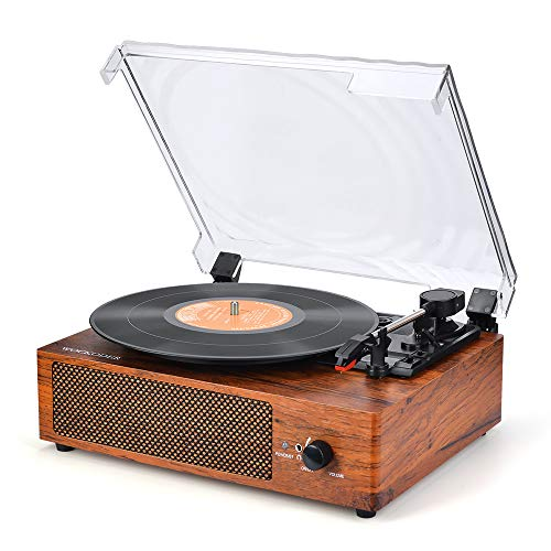 Record Player Turntable 3 Speed Vinyl Record Player with Stereo Speaker Belt Driven Vintage Style Vinyl Record Player (Best Record Player Under 200 Dollars)