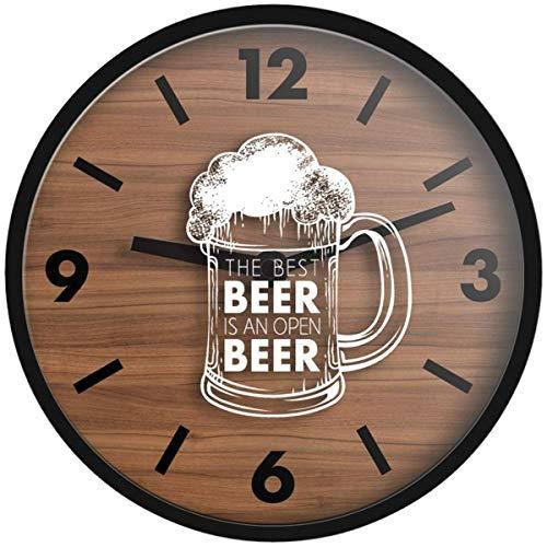 Westclox 32240 16-Inch Beer Wall Clock, Brown