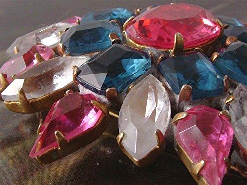 7151f5f3f3dc La Bijoux MG Czechoslavakian damas azul rosa y rhinestone claro - broche de  noche estrellada de pasador 12108  Amazon.es  Joyería