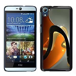 La Curva Oscuro - Metal de aluminio y de plástico duro Caja del teléfono - Negro - HTC Desire D826