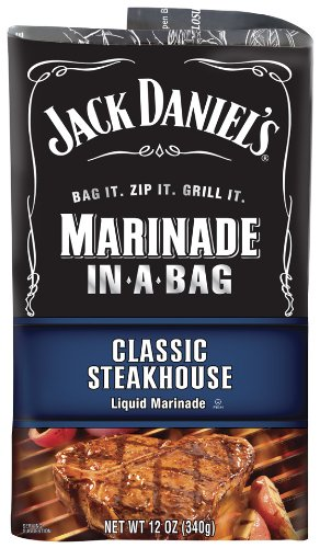 Jack Daniel's Marinade In-A-Bag, Classic Steakhouse, 12 Ounce (Pack of 5)