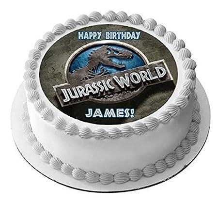Amazon Com Jurassic World Edible Cake Topper 6 Round Kitchen