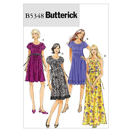 Butterick Patterns B5348 Misses' Dress, Size F5 (16-18-20-22-24) by BUTTERICK PATTERNS B005QSNFNU