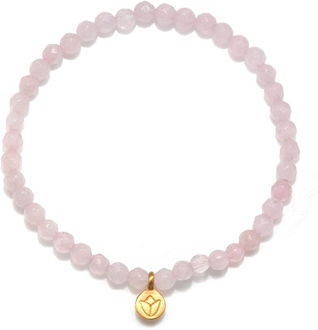 Yoga Bracelet 3-piece Buddha Infinity Lotus flower Amethyst carnelian Agate Stainless steel purple fuchsia orange Silver