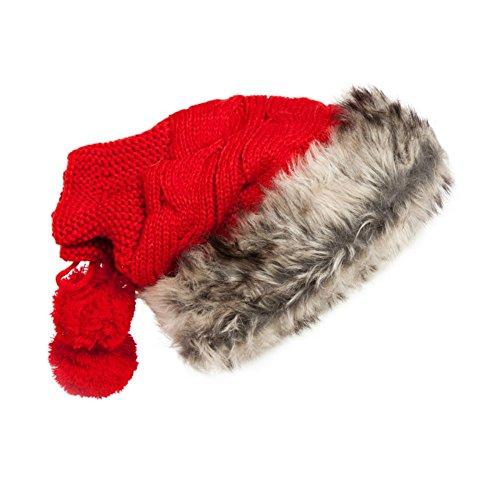 [WSHINE Christmas Gift Women Winter Crochet Hat Wool Knit Beanie Warm Caps (4)] (Duckbill Costume Pattern)