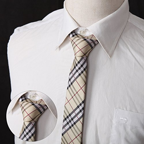 DANF0048 Various Colors Polyester Slim Ties Love Shopstyle Skinny Ties - 5 Styles Available Selection Accessories By Dan Smith by Dan Smith (Image #3)