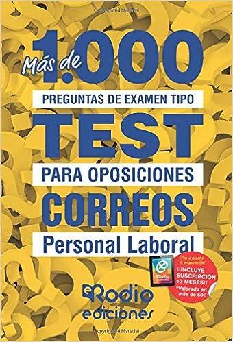 Correos. Personal Laboral: Más de 1.000 preguntas de examen ...