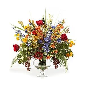 Petals Glorious Garden Silk Flower Centerpiece 8