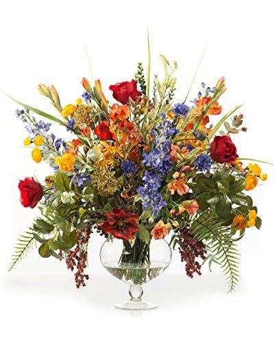 (Glorious Garden Silk Flower Centerpiece)