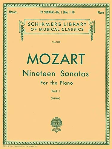 Mozart 19 Sonatas - 19 Sonatas - Book 1: English/Spanish Schirmer Library of Classics Volume 1305 Piano Solo
