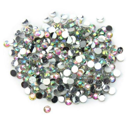 Mirror Facet Round Bead - 1000Pcs 3mm Flatback Crystal round Resin Rhinestone Beads Nail Art Cellphone Case Decoration