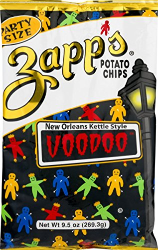 Zapp's New Orleans Kettle Style Voodoo Potato Chips 9.5 oz. Party Size Bag (3 Bags)
