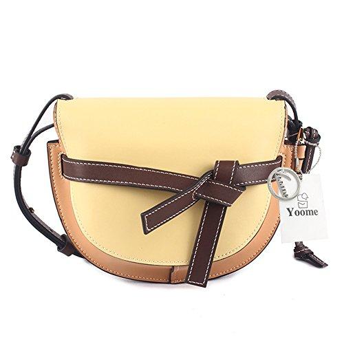 YooHY008 para Bolso Mujer Claro Light Medium Hombro Yellow Yoome al Amarillo Claro Amarillo dqYBpt