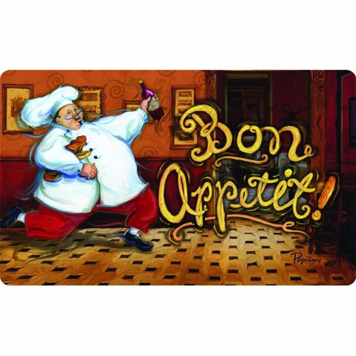 Bistro Italian Fat Chef Running Kitchen Decor Mat 18 Inch By 30