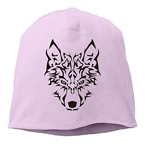 Fgerjiog Wolf Dreams Men's 100% Cotton Beanie Cap Pink (Army Helicopter Helmet)