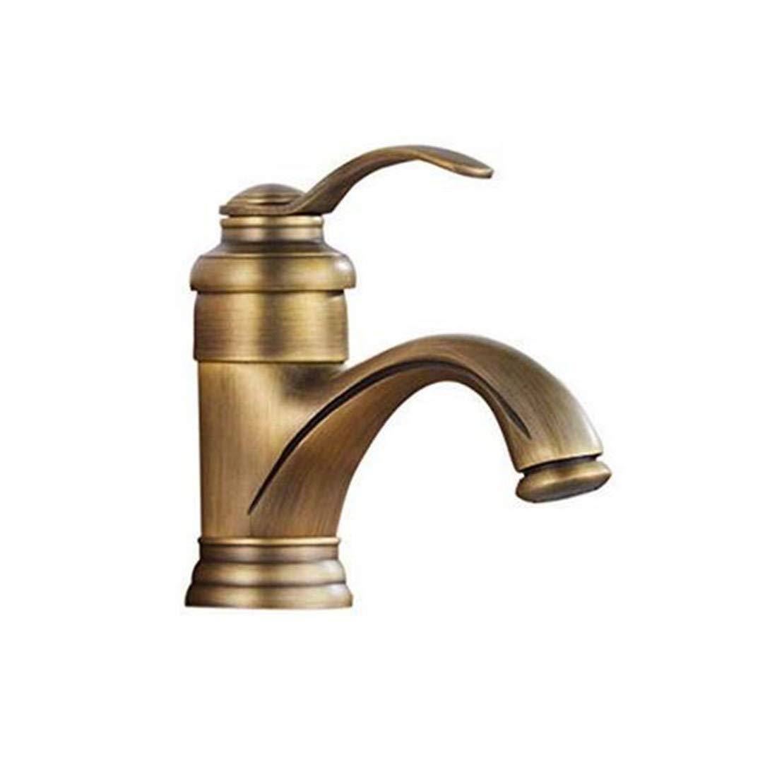 Verchromtes Messing Warmes und kaltes Wasser Waschbecken Europäische Retro Waschbecken Waschbecken Warmes und kaltes Wasserhahn Farb-Wasserhähne
