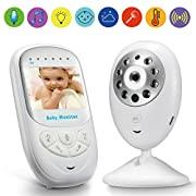 Video Baby Monitor GooDee 2.4  TFT LCD Baby Monitor with Night Vision Two Way Voice Talk Temparature Monitoring & Built-in Lullabies —Upgraded