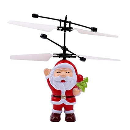 OWIKAR - Bola voladora de juguete con luz LED para niños con sensor de infrarrojos eléctrico
