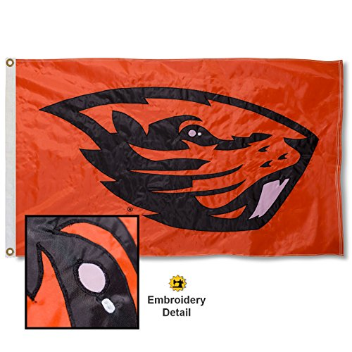 (Oregon State University Embroidered and Stitched Nylon Flag)