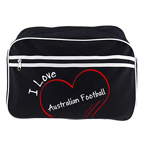 Retrotasche Modern I Love Australian Football schwarz