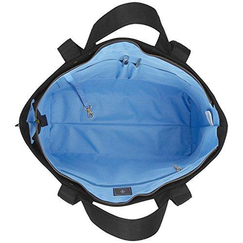 BONTHEE Bag Canvas for Black Shopper Shoulder Handbag Women Bag School Work Tote Travel 2 basic Large rqr1U