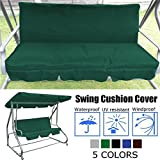 Essort Swing Cushion Cover Replacement, 150 X 50 X 50 x 10CM Suitable for B&Q Colorado Garden Swing Loveseat Protective Waterproof Cover for Swing Cushion Green 150 X 50 X 50 x 10CM