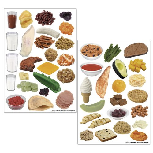Nasco WA29840 Food Cling Set III, 2 Sheets with 44 Re-usable Food Images