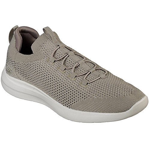 Skechers Men's Studio Comfort Taupe Ankle-High Fabric Walking Shoe - 11M