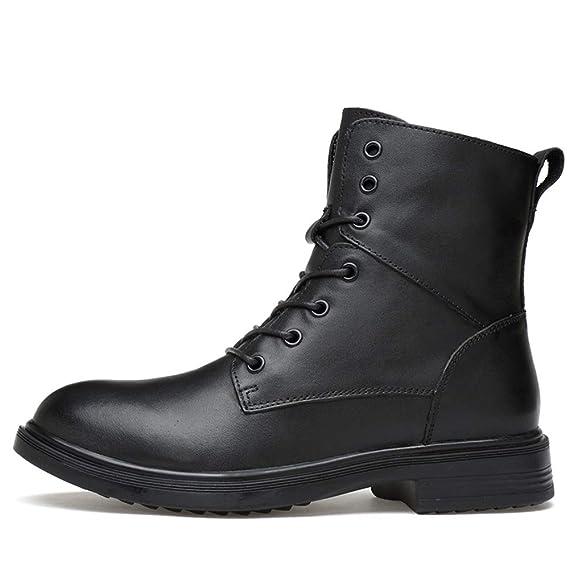 HILOTU Hombre Botas de Nieve Senderismo Impermeables Deportes Trekking Zapatos Forro Piel Botines (Color : Negro, tamaño : 49 EU): Amazon.es: Hogar