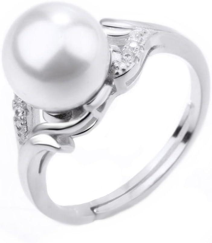Scrox Anillos de moda europeos y americanos anillos de perlas ...
