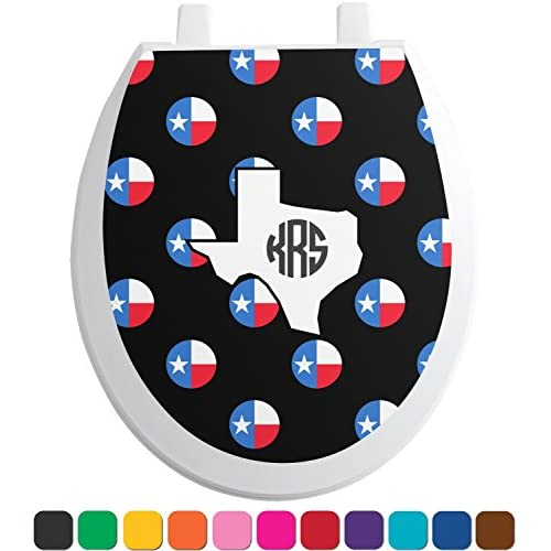50%OFF Texas Polka Dots Toilet Seat Decal - Elongated (Personalized)