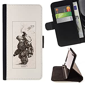 Momo Phone Case / Flip Funda de Cuero Case Cover - Battle Metal Pc Futuriste - Huawei Ascend P8 Lite (Not for Normal P8)