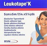 LEUKOTAPE K 2 Inch X 5.4 Yard, Blue (Pack of 5)