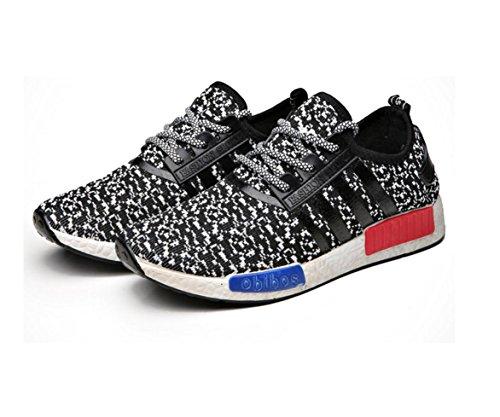 HYLM Primavera Verano El Nuevo Moda Ocio Breathable Men's Shoes Movimiento De Correr Zapatos Los Hombres De Coco Zapatos Black
