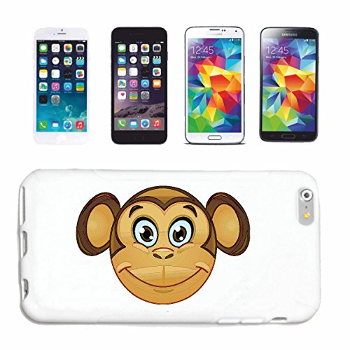 "cas de téléphone Samsung Galaxy S5 Mini ""MONKEY FUNNY AVEC GRANDES OREILLES ""sourire EMOTICON APP de SMILEYS SMILIES ANDROID IPHONE EMOTICONS IOS"" Hard Case Cover Téléphone Covers Smart Cover pour Sam"