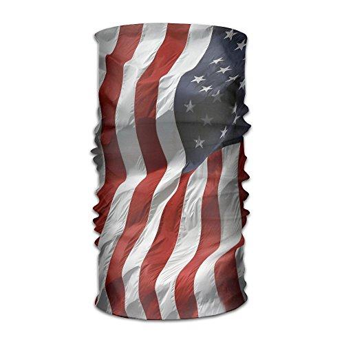 Price comparison product image ZZATAA Big American Flag Headwear Hats Elastic Head Wrap Scarf Hair Band Caps