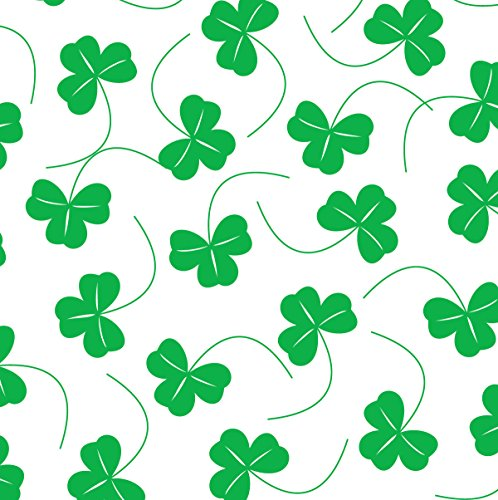 St Patrick's Day Tissue Paper for Gift Wrapping (Bright Green Irish Shamrocks), 24 Large Sheets (Gift Wrap Collection)