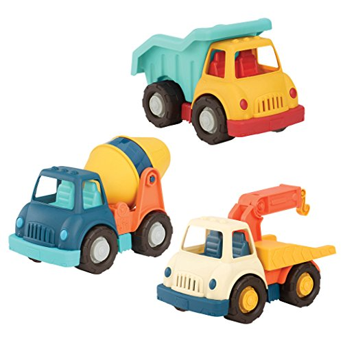 Wonder Wheels by Battat - Dump + Tow + Cement Truck - Toy Trucks Combo Set for Toddlers (3Pcs)