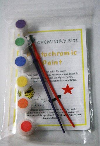 Photochromic Paint Set- 6 Color Paint Pot Strip