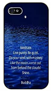 Diy For SamSung Galaxy S6 Case Cover Meditate. Live purely. Be quiet. Do your work with mastery. Buddha - Black plastic Inspirational and motivational life quotes SURELOCK AUTHENTIC