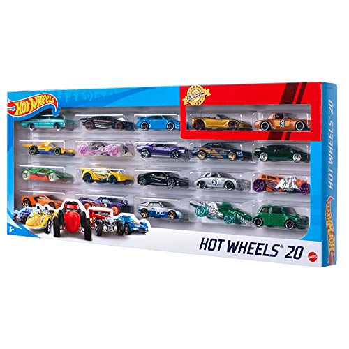 Hot Wheels Mattel H7045 20 Car Gift Pack  Design and color may vary