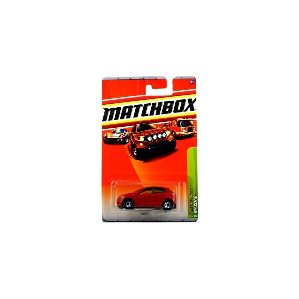 Mattel Year 2009 Matchbox MBX Metro Rides Series 164 Scale Die Cast Car #27   Red Sub Compact Car MAZDA2