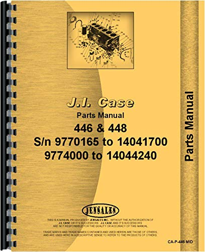 Case 446 Lawn and Garden Tractor Parts Manual (SN# 9770165-14041700)