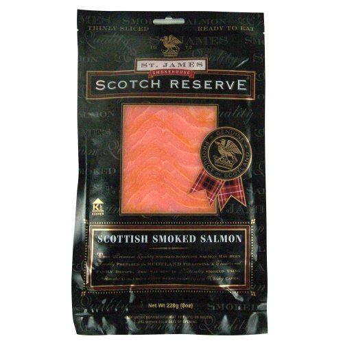 St. James Scottish Reserve Sliced Skinless Smoked Salmon, 8-Ounce Package