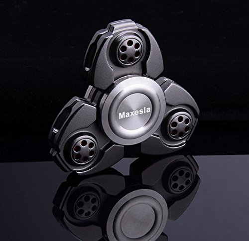 Maxesla Ultra Durable Hand Spinner 3-5 Mins High Speed EDC Fidget Spinner Toy Precision Metal Material ADHD Anxiety Stress Relief Toys for Adult Children to Killing Time, Focus At Home/Office/Work etc