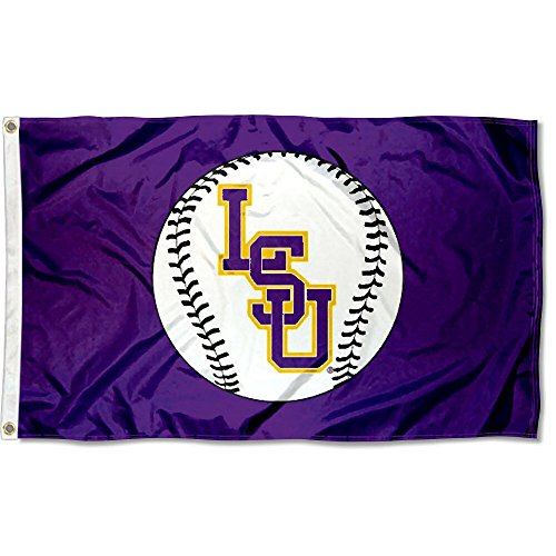 - College Flags and Banners Co. Louisiana State LSU Tigers Baseball Logo Flag