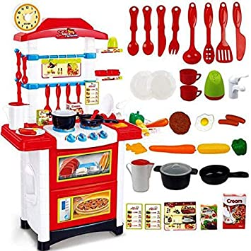 Buy Baybee Battery Operated Kids Kitchen Play Set With Light Sound Cooking Kitchen Set Play Toy 32 Pcs Cook Fun Online At Low Prices In India Amazon In