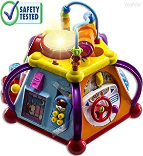 With the WolVol Activity Cube Center there's so much for little toddler to do. Everywhere baby turns there is something to do and learn! Various skill functions and interesting activities. Everything a child can imagine of: Built-in microphone to sin...